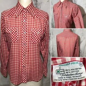 VTG 80's Kmart Western Pearl Snap Button Down